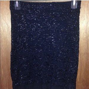 Size XS H&M Black Sparkly Pencil Skirt